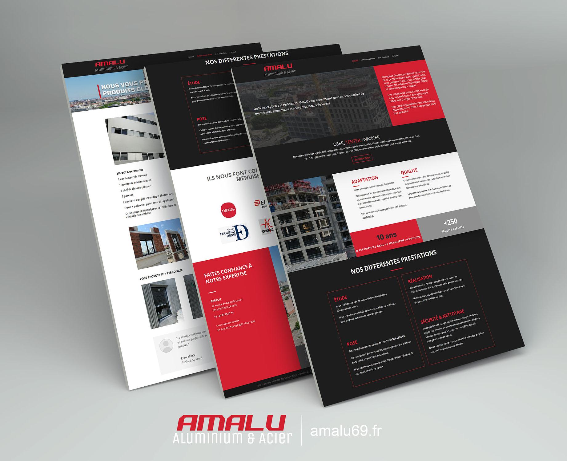 création site Amalu, construction métallique et acier