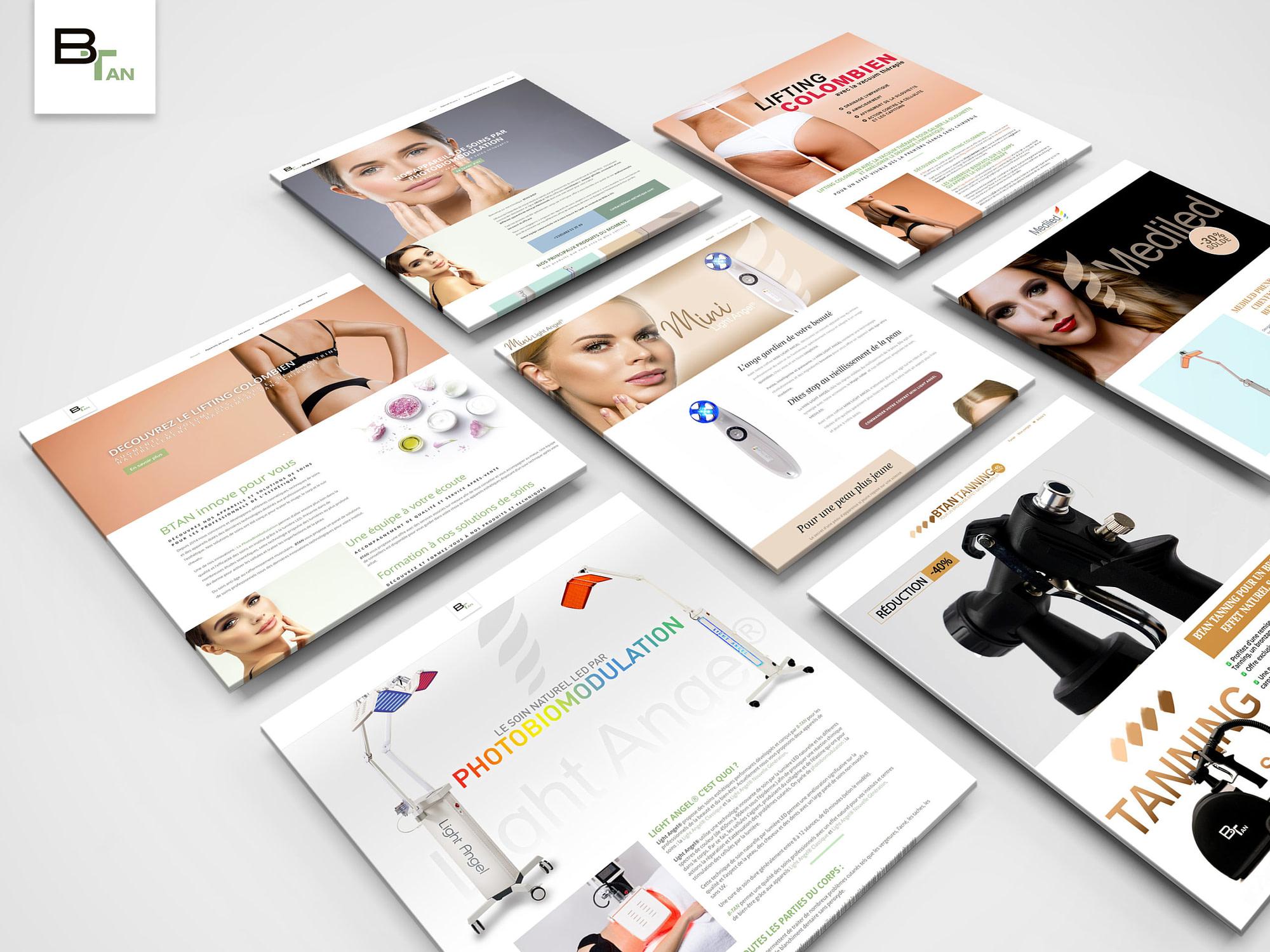 site internet btan esthétique